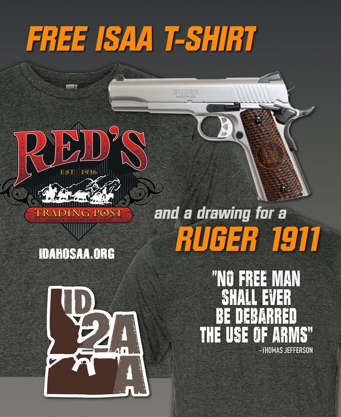 Stand and Fight and Win a Ruger 1911 with Custom ISAA Grips!